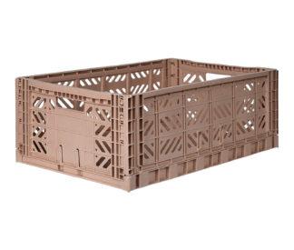 Aykasa folding crate maxi box - Taupe