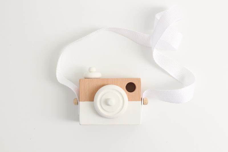 Manowoods - Houten camera wit