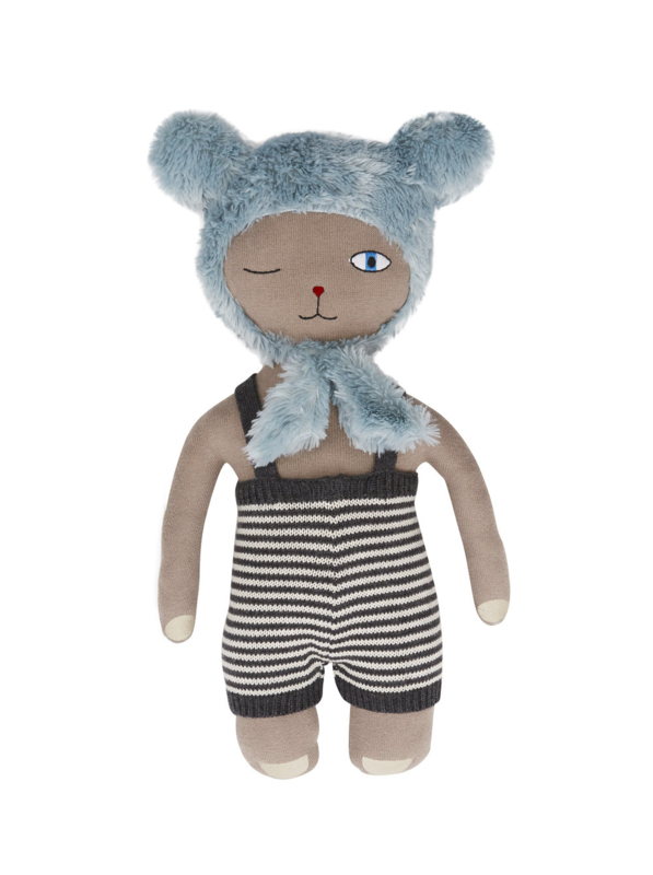 Oyoy - Hopsi bunny doll brown pale blue