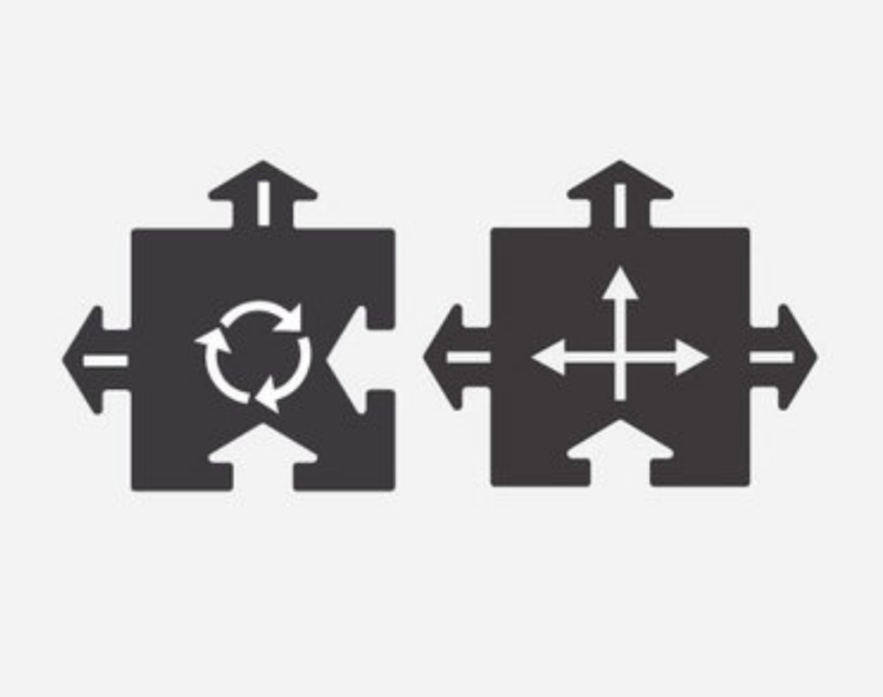 Way to play - rotonde en kruising (2parts)