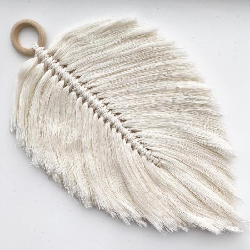 Cotton design - Feather naturel