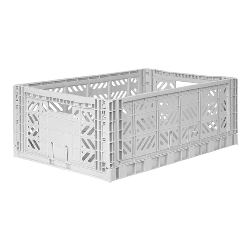 Aykasa folding crate maxi box - Light grey