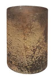 Glazen Theelichthouder - Cilinder- ø 10 cm - Oud Goud