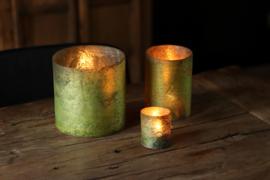 Glazen Theelichthouder - Cilinder ø 14,7 - Oud Groen