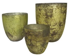 Glazen vaas - Oud Groen - XL