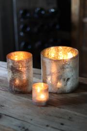 Glazen vaas - Cilinder- ø 10 cm - Oud Zilver