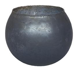 Glazen theelichthouder - Bolvormig - XL - Roze