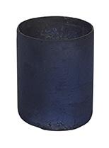 Glazen Theelichthouder - Cilinder- ø 6 cm - Oud Blauw