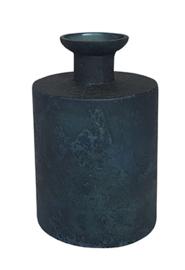 Glazen vaasje - cilindervormig - Oud Blauw