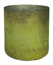 Glazen Vaas - Cilinder - Oud Groen- L
