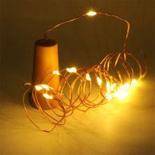 Kurk met led lampjes-20 leds-warm wit-koperdraad