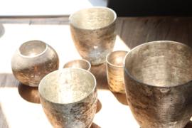 Glazen Vaas - Oud  Zilver -XL