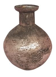 Glazen vaasje - bolvormig - Oud  Roze