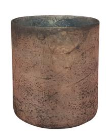 Glazen Theelichthouder - Cilinder- ø 14,7 cm - Oud Roze