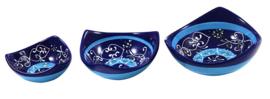 Driepunts Tapasschaaltje 9 cm - Azul