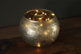 Amaryllisbol met glazen vaas