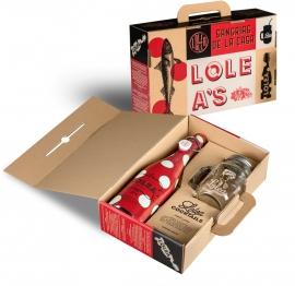 LOLEA Mason Jar set - rood 75cl