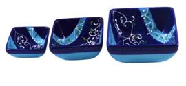 Vierkant tapasschaaltje 7 cm - Azul