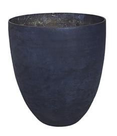 Glazen theelichthouder - Vaas - 14,5 x 15,5 - Oud Blauw