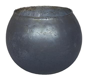 Glazen theelichthouder - Bolvormig - XL - Blauw