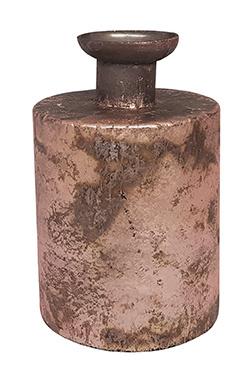 Glazen vaasje - cilindervormig - Oud Roze
