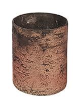 Glazen Theelichthouder - Cilinder- ø 6 cm - Oud Roze