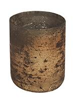 Glazen Theelichthouder - Cilinder- ø 6 cm - Oud Goud