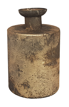 Glazen vaasje - cilindervormig - Oud Goud