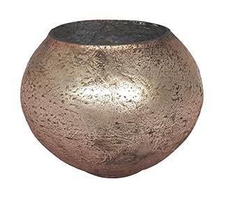 Glazen theelichthouder - Bolvormig - Large - Oud Roze