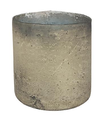 Glazen vaas - Cilinder- ø 14,7 cm - Oud Zilver