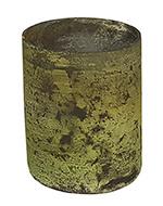 Glazen Theelichthouder - Cilinder- ø 6 cm - Oud Groen