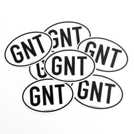Gentse sticker 'GNT'