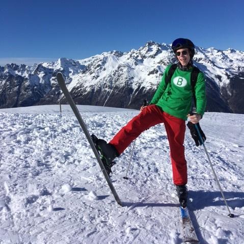 Bekerwinnaar: Jean de Gand-sweater hoog in de Alpen