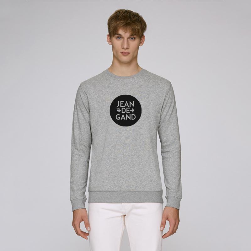LOGO | unisex | heather grey met zwarte flock