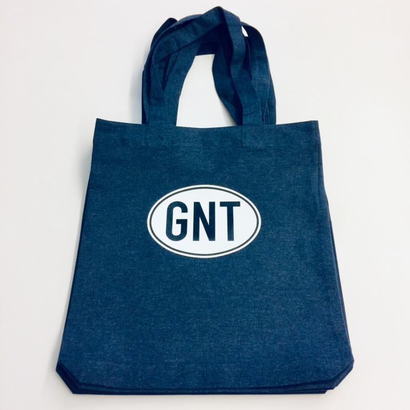Tote bag | draagtas | jeansblauw met witte GNT