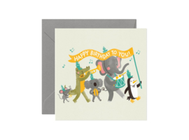Greeting Card | Party Animals Birthday Band