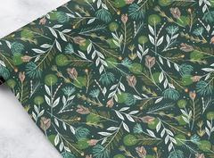 Wrapping Paper Sheet | Green Foliage