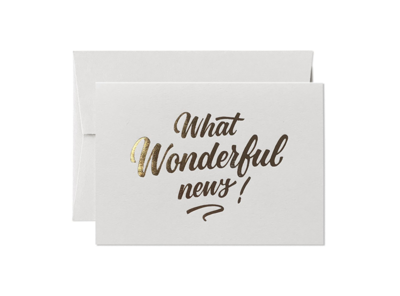 Greeting Card | What Wonderful News