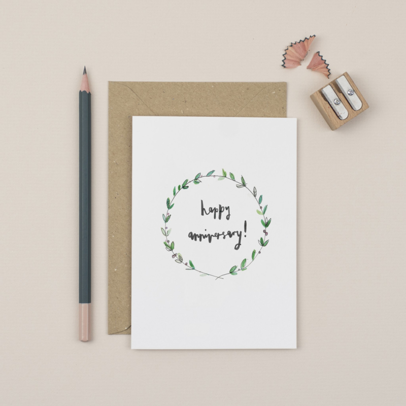 Greeting Card | Happy Anniversary (Wreath)