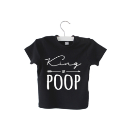 Shirt // King of Poop - Zwart