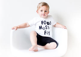 SS17' - Shirt // Food must fly - White