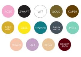 Naamsticker - Groot  // Verkrijgbaar in 14 kleuren