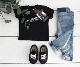 Shirt // I scream - Zwart
