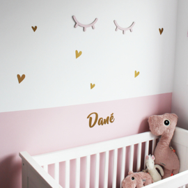 Wall stickers 'Hearts' // Black, white, pink, mustard, gold or copper