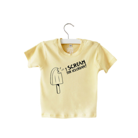 Shirt // I scream - Geel