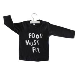 Longsleeve // Food must fly - Zwart