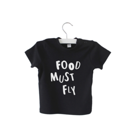Shirt // Food must fly - Zwart