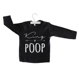 Longsleeve // King of Poop - Zwart