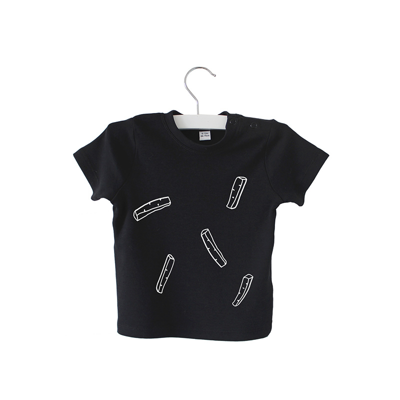 Shirt // Fries party - Zwart