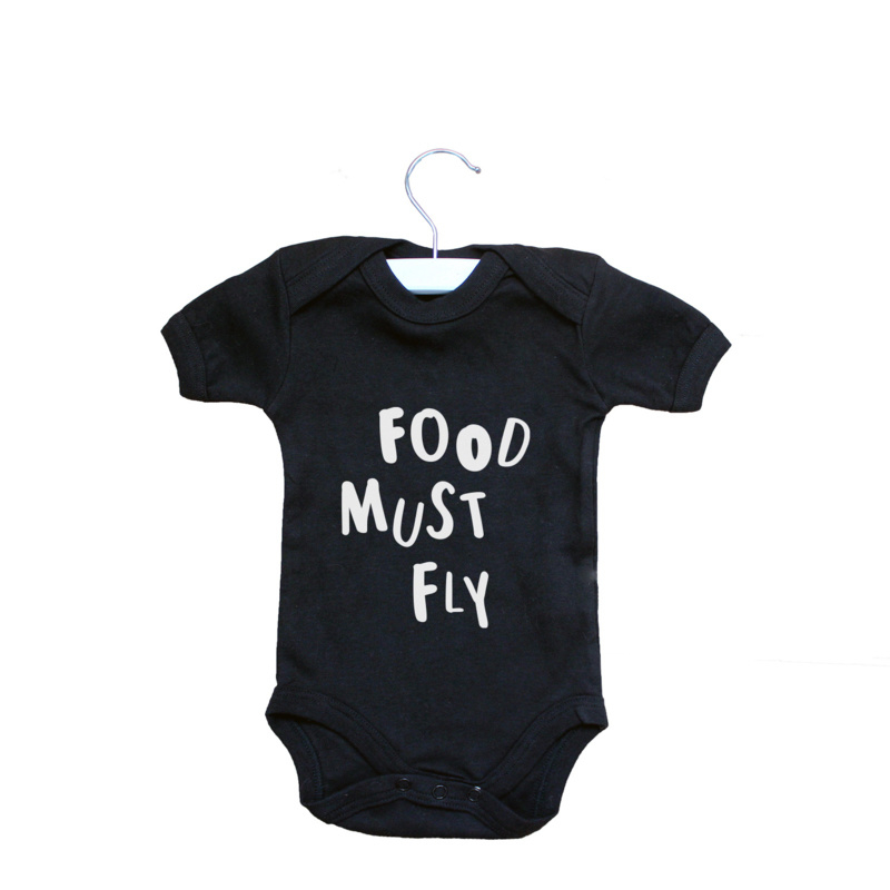 Romper // Food must fly - Zwart
